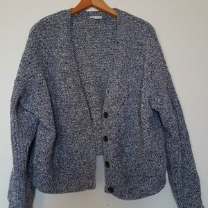 Chunky knit Gap blue cardigan
